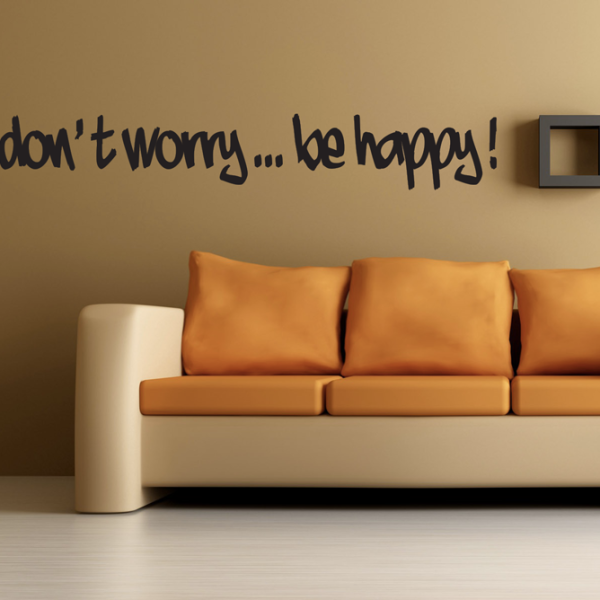 Wall sticker don't worry be happy