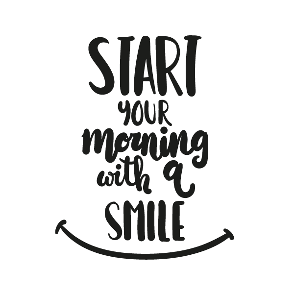 start with a smile adesivo murale