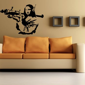 Wall Stickers Tribute Banksy Monalisa