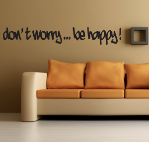 adesivo murale dont worry be happy gallery