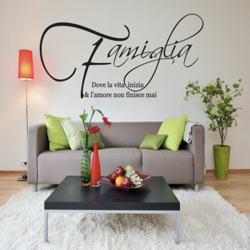 wall stickers FAMIGLIA gallery