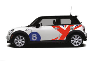 Adesivi per auto mini union jack